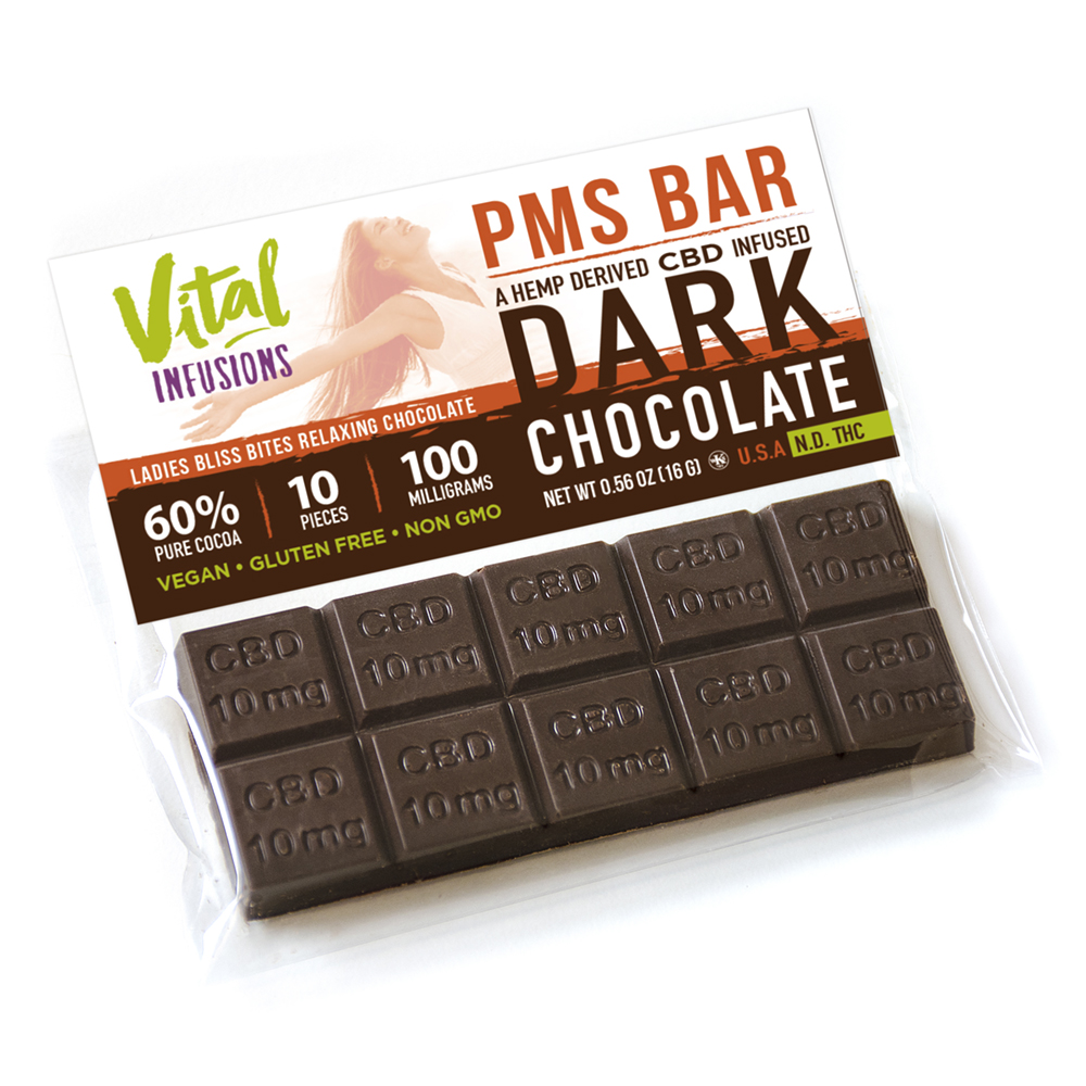 CBD Infused Chocolate-PMS Bar | Vital Infusions World
